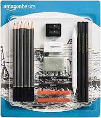 AmazonBasics Sketch and Drawing Art Pencil Kit - 17 ... - Amazon.com