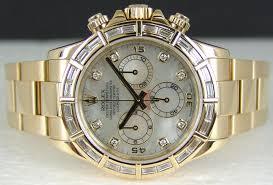 swiss watches rolex 18kt gold mens 40mm diamond daytona pearl santblanc com timepieces albums sant rolex 18kt gold mens