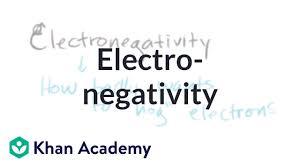 Electronegativity Video Khan Academy