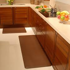 Kitchen Floor Covering Healthy Kitchen Mats In Brown Color With Different Shapes