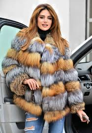 fox furs multi color saga fox fur coat jacket