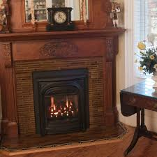 Valor G3 739JLN Gas Insert In Arched Masonry Fireplace With Custom Valor Fireplace Inserts