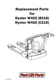 electric lift truck parts buy online fast lift parts hyster