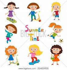 Vector Set Summer Childs Outdoor Vector Photo Bigstock