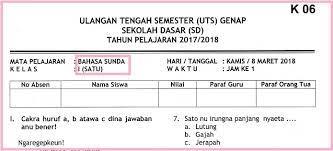 Indonesia, disebut juga dengan negara kesatuan republik indonesia (nkri, pengucapan bahasa indonesia: Soal Uts 2 Bahasa Sunda Kelas 1 Terbaru Dan Kunci Jawaban