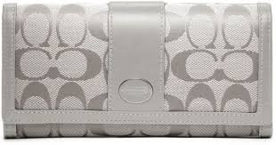 spain coach legacy slim envelope in signature large grey wallets 43589 58e85