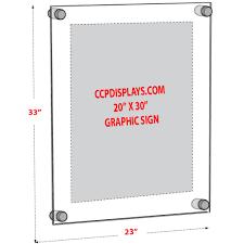 acrylic standoff sign holder 20 x 30