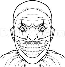 how to draw twisty the clown step 10