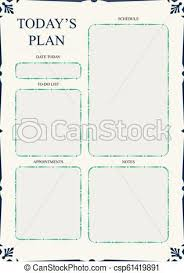 Daily Planner Sheets Daily Planner Template Ready For Print With Space For To Do List Schedule Activities Appointments