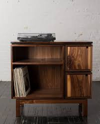 walnut record player stand reduced by brianbolesfurniture record player standrecord playersvinyl record storage roomsstudio ideasdiy