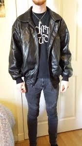 alta moda italian real leather jacket excellent condition large