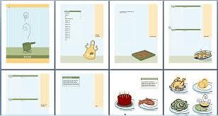 microsoft recipe book template templates data