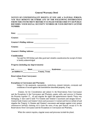 40 Warranty Deed Templates Forms General Special Template Lab