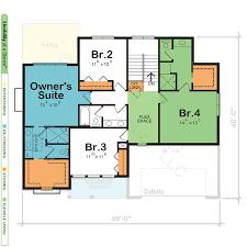 dual owner bedroom home plan