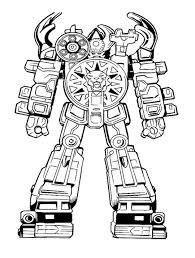 Small Picture Robot Power Rangers Ready To Fight Coloring Page For Kids Kids