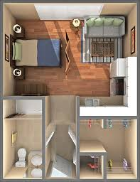 400 square foot studio apartment - nice n' little--less to clean!