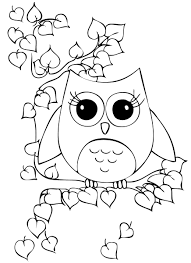 Beautiful Owl Child Coloring Pages Owl