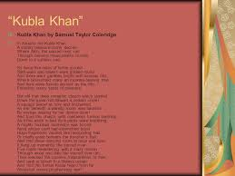 "kubla khan"" by samuel taylor coleridge ppt video online  3 ""kubla"