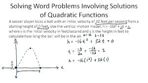 quadratic word problems projectile motion math solving quadratic equations word problems worksheet with answers math calculator