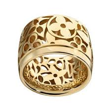 louis vuitton ring. monogram résille large band ring, yellow gold. $3,150 sold out louisvuitton .com louis vuitton ring