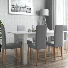 nice dining room furniture. Grey Gloss Kitchen Table White High Dining 6 Fabric Chairs . Nice Room Furniture