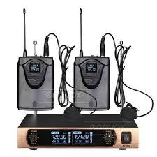 <b>Wireless Lavalier Lapel Clip On Microphone</b> System Stage KTV ...
