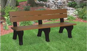 bench with arms. 6\u0027 Cedar Recycled Plastic Bench (Without Arms) With Arms
