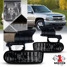 Details About Smoke Tinted Fog Light Oe Bumper Lamps For 99 02 Silverado 00 06 Suburban Tahoe