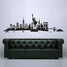 on new york city skyline wall art with new york city skyline vinyl wall art decal