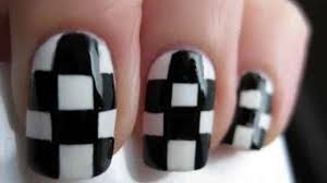 Nascar Nail Art Designs 13 Fast And Furious Checkered Flag Nails