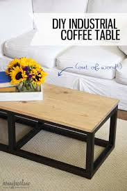 ... Brown And Black Rectangle Wooden Top And Metal Legs Industrial Style  Coffee Table Designs ...