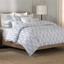 barbara barry alpen delft full queen duvet 2 shams 3 pc set blue white taupe
