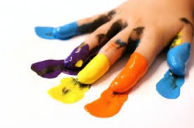 Image result for image of writing in finger paints