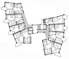 201 best architectural plans and sections images on pinterest Eames House Plan Section Elevation hans scharoun apartamentos salute stuttgart 1961 1963 Eames House Interior