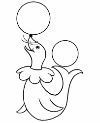 pre k coloring pages free printable circus seal pre k coloring