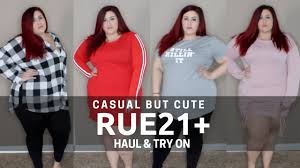 rue 21 plus size clothes casual but cute plus size rue21 haul and try on youtube