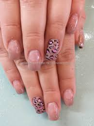 Eye Candy Nails & Training - Nude gel polish with pink leopard ...