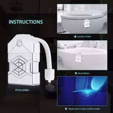 led toilet light human motion sensor backlight for toilet bowl lighting bathroom night light 16 color