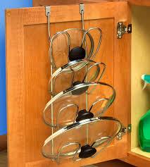 under sinks homemade kitchen cabinet door organizers storage ideas between pot rack cool lid organi