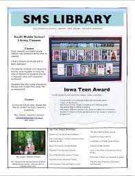 schools newsletter ideas south middle school library fall newsletter patrons middle