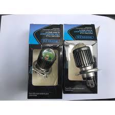 Đèn Led pha H4 gương cầu Mini Cos Vàng Pha Trắng gắn như ZIN ko chế mọi  loại xe máy - Đèn