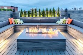 gas fire pits for decks wooden amazing good regarding design firepit deck natural pit wood