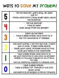 Social Skills Chart How Big Is My Problem Behavior Chart Classroom Behavior