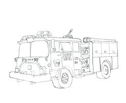 Free Fire Truck Coloring Pages Printable Firetruck Coloring Pages