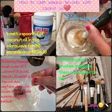 how to clean makeup brushes according to the image