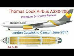thomas cook airbus a330 200 premium economy flight review gatwick to cancun june 2017