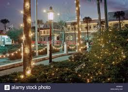 St Augustine Lights Hours Trees And Buildings Decorated For The Annual Nights Of