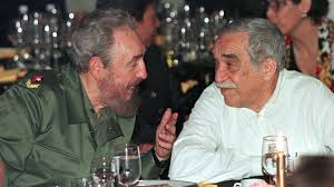 fidel castro influenced latin america s most famous authors n president fidel castro chats n nobel prize winning author gabriel garcia marquez