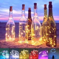 String Light Wine Bottle Us 1 39 2m 6 5ft 20 Led Night Fairy Copper Wire String Light Wine Bottle Lamp Lampe Valentine Party Decor Romance Diy Christmas Wedding In Lighting