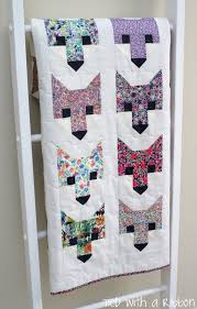 Tied with a Ribbon: F-A-N-C-Y Foxes! | Sewing & embroidery ... & Fancy Fox Quilt Pattern by Elizabeth Harman Made by Tied with a Ribbon Adamdwight.com